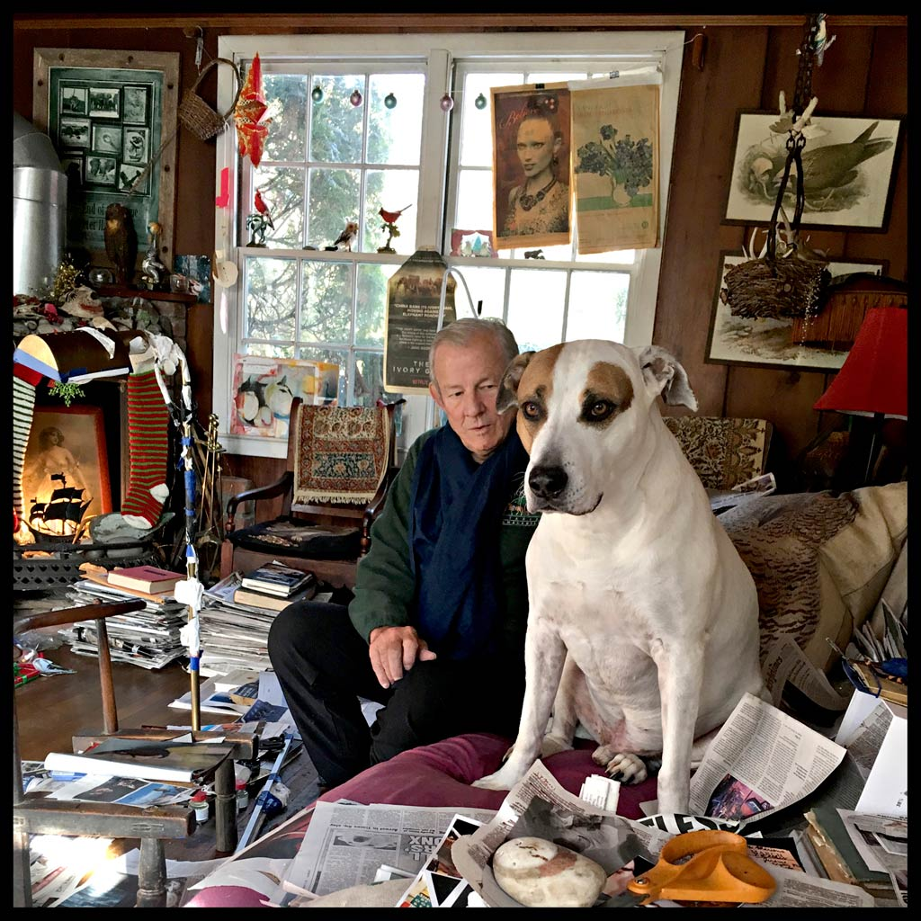 Peter Beard at home in Montauk